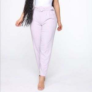 Belted Lilac Pants 🌷